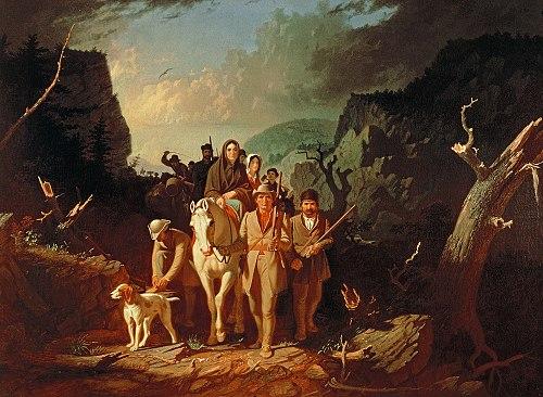 David Gass with Daniel Boone