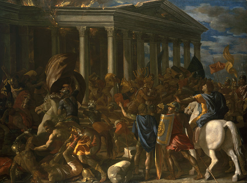 Image of Nicolas Poussin's Painting: The Destruction and Sack of the Temple of Jerusalem