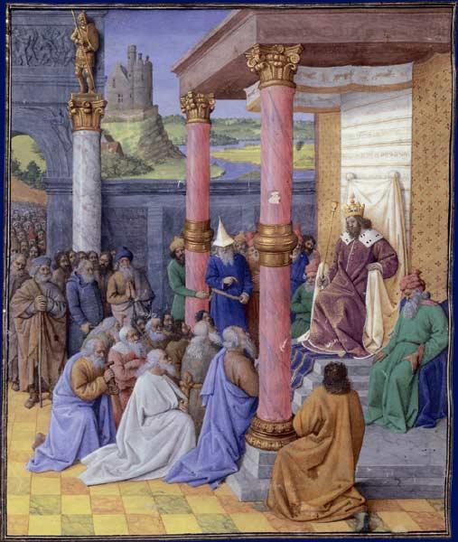 Photo of painting of Cyrus II le Grande et les Hébreux