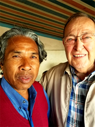 photo of male prisoner with Pastor Lerseth