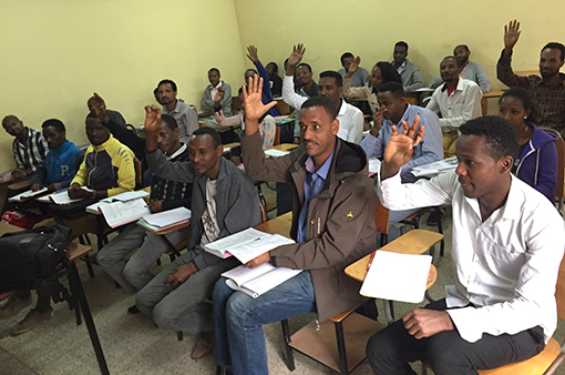 Photo of seminary students in classroom