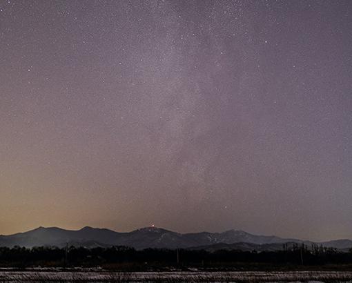 Photo of starlit Russian landscape
